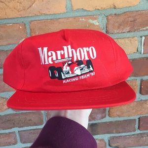 Vintage 1992 Marlboro racing SnapBack hat